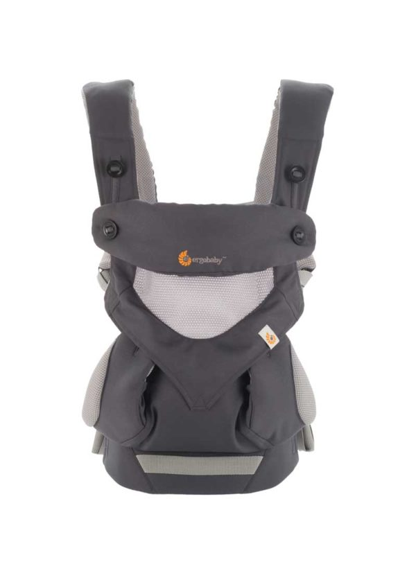 Mochila Portabebé 360 Cool Air – Gris/Carbón