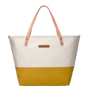 Downtown Tote – Birch/Carmel