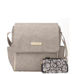 Boxy Backpack – Grey Matte Leatherette